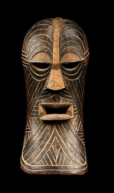Africa | Kifwébé mask from the Songye people of Kasaï, DR Congo | wood | ca. 1946 or earlier