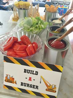 Construction themed birthday party ideas and inspiration for food, party favors, activities, and decor. plus construction party printables! Construction Birthday Parties, 3rd Birthday Parties, Baby Birthday, Construction Party Foods, Third Birthday, 18th Birthday Ideas For Boys, Digger Birthday, Construction Party Decorations, Car Themed Birthday Party