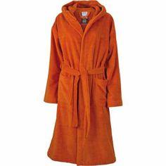 Peignoir à capuche polyester et coton - MB434 - orange foncé Orange, Hoods, Dressing, Unisex, Dark, Polyester, Size Chart, Colours, Composition