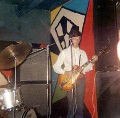 """First gig of Cream at Twisted Wheel, Manchester on 29 July 1966. But of course at that time Clapton was already known as God after playing with Yardbirds and John Mayall's Bluesbreakers. Eric's famous """"Beano"""" Les Paul had been stolen during the first rehearsals for Cream and for some gigs he played this sunburst Gibson Les Paul.."""