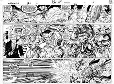 Jim Lee WildCATS 4 DPS Comic Art