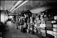 Erich Hartmann - USA. New York City. 1960. Cabin-class baggage on the Queen Elizabeth.