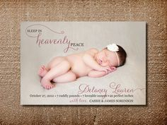 Christmas Birth Announcement Christmas Card by PinchOfSpice
