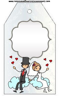 Gratuit mariage lune de miel avec des ballons et des coeurs imprimable. | Des idées et des trucs gratuits pour les fêtes et célébrations Oh My Party!