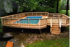 decks and pools | ... basic rectangle square pool gazebos porches software pool deck photo 4