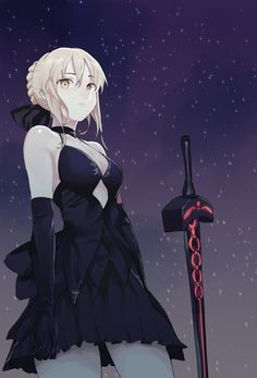 "twin-tailed: "" ""Saber by nesume "" """
