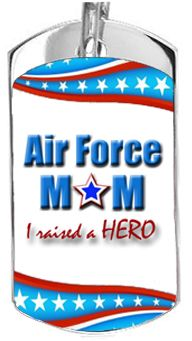 Star Air force mom dog tag.