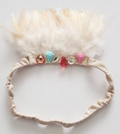 The Wovenplay Douceur Featherband Tiara is part of the spring summer 2014 collection.