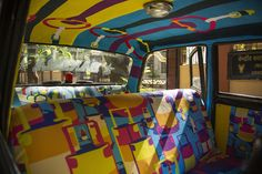 "Ordinary Interiors of Cabs Are Being Replaced with Artistic ""Taxi Fabric"" in Mumbai - My Modern Met"