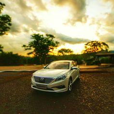 A new beginning makes my heart flutter - 오늘 하루 끝! 내일이 기다려지네요 - #heartflutters #cantwait #instamood #drive #Naksan #park #car #carinstagram #diecast #SONATA #Hyundai