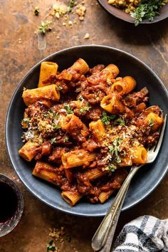 Slow Cooker Saucy Sunday Bolognese Pasta | halfbakedharvest.com Pasta Recipes, New Recipes, Dinner Recipes, Healthy Recipes, Slow Cooker Recipes, Crockpot Recipes, Cooking Recipes, Slow Cooker Dinners, Slow Cooker Pasta