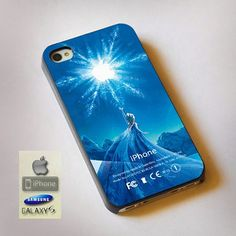 "Disney Frozen Elsa Castle Apple Frozen Logo Print On Hard Plastic For iPhone 4/4s, Black Case  This case is available for: iPhone 4/4S iPhone 5/5S iPhone 6 4.7"" screen Samsung Galaxy S4 Samsung Galaxy"