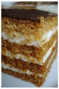 Polish Desserts, Polish Recipes, Baking Recipes, Cake Recipes, Dessert Recipes, Sweets Cake, Cupcake Cakes, Chocolate Pastry, Russian Recipes