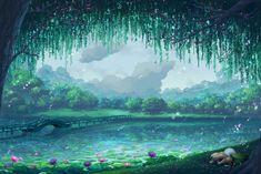Lake by zhowee14.deviantart.com on @DeviantArt