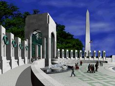 WWII Memorial in Washington DC, which had just broken ground when I was there last in 2003.