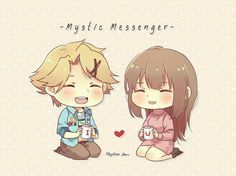 Yoosung X Mc, Mystic Messenger Yoosung, Manga Anime, Anime Art, Saeran, Nalu, Anime Couples, Cute Drawings, Fan Art