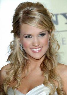 Jennifer Love Hewitt Half Half Down Hairstyle Carrie-Underwood-Hal