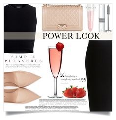 """""""Power Look"""" by mistressofdarkness ❤ liked on Polyvore featuring Theory, Chanel, Yves Saint Laurent, By Terry and Rodin"""