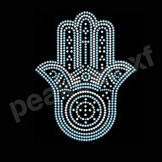 Rhinestone Hamsa Transfers Wholesale for Clothing 30 Pcs/Lot