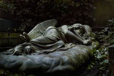 Stunningly gorgeous monument in Highgate Cemetery in London. This is so moving. Photo by Rich Cutler.