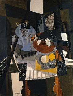 Georges Braque, Still Life with Fruit Dish, Bottle and Mandolin, 1930. Kunstsammlung Nordrhein-Westfalen, Düsseldorf. © 2013 ARS