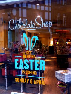 The Chocolate Shop is getting ready for Easter