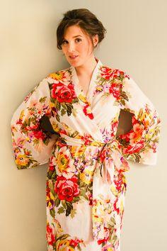 Rosalie White short dressing gown