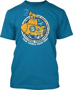 Yellow Submarine Deep Sea Discovery VBS 2016 T-Shirt Design #16203
