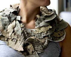 click on photos for slideshow DIY: INFINITY LEAF... | Crafted in Carhartt