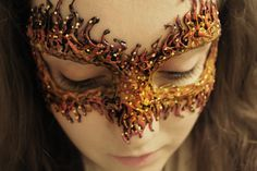 DIY: Fire Masquerade Note to self:  This would look really cool to use mica powders and or gold leaf