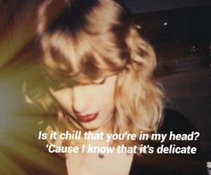 Delicate - Taylor Swift #REPUTATION #TAYLORSWIFT