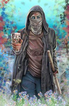 The second episode of The walking Dead season six was epic. Carol went crazy and and was a quick thinker.This is a tribute to that episode. I call it The Sultan of Alexandria.This print is signed by me and shipped with a clear bag and backing board. Walking Dead Fan Art, Walking Dead Zombies, Walking Dead Season, Zombie Vampire, Walker Stalker, Stuff And Thangs, Daryl Dixon, Comic Book Covers, Print Artist
