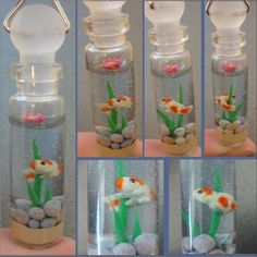 polymer clay koi in a bottle!  OMG!: