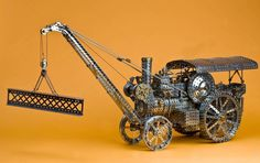 Meccano Fowler traction engine by Darren Bonner