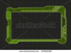 Futuristic Screen Tablet Device - stock vector