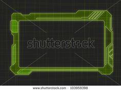 Futuristic Screen Tablet Device - stock vector
