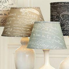 Document Empire Lamp Shade, Ballard Designs.