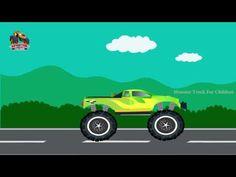 Garbage Monster Truck Wash | Monster Truck Cartoon | Fun Time Cartoon For Children | Short Movie - YouTube