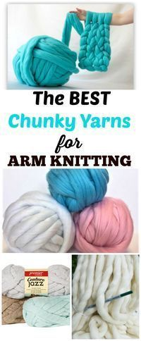 The best chunky knit yarn for arm knitting a chunky knit blanket, scarf, etc. #knitting #yarn #blankets #Scarves #diy