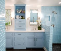Dual Sinks, Soothing Colors (Casa Haus | Category Archive | Colores)