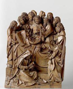 Morte da Virgem, Adriaen van Wesel (c. 1475 - c. 1477) Rijksmuseum Amsterdam Os grupos escultóricos de Adriaen van Wesel (fim do século 15) expostos no Rijksmuseum de Amsterdam são cinselados com um grande senso de composição e um grande poder expressivo. Adriaen van Wesel (c. 1417- 1490) Pouco se sabe sobre escultores medievais, muitas vezes, nem mesmo seu nome. Adriaen van Wesel é uma exceção; numerosos documentos relativos ao seu trabalho e comissões sobreviveram. Ele viveu e trabalho