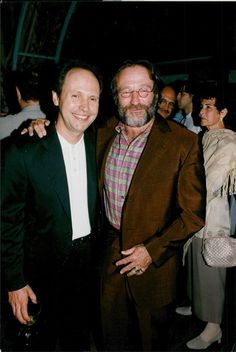Billy Crystal and Robin Williams at the premiere of Fathers' Day, 1997