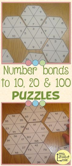 These puzzles are a fun and differentiated way of practising the important skill of knowing number bonds.
