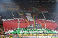 Curva Sud Milano display against Internazionale