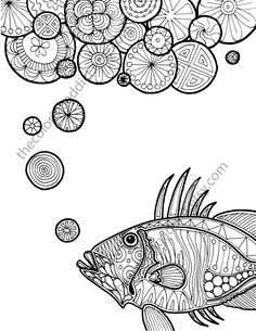 Nautical Adult Coloring Page Ocean Sheet Colouring Book Printable Digital