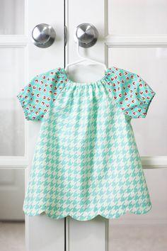 Peasant Dress & Blouse PDF Pattern - Scalloped Hem