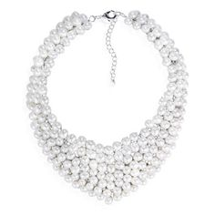 Circle Cascades Freshwater Pearl Collar Bridal Necklace (Thailand)   Overstock.com Shopping - Great Deals on Necklaces