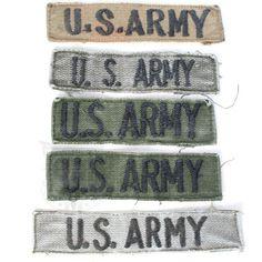 米軍放出品 軍用実物  US ARMY 4軍タグセット No.3  戦闘服の左胸ポケットなどにに縫い付ける4軍タグ、こちらはアメリカ陸軍のサブデュードタイプです。ODカラーの生地に黒糸でU.S. ARMYの文字が刺繍されております。  画像がセット内容の全ての商品となります。  ※訳あり一品堂商品に関しましては返品・返金・交換等は  行っておりませんのでご了承ください。  《ミリタリーワッペン ミリタリーパッチ インシグニア 部隊章》