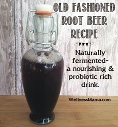 56 Fermented & Probiotic Drinks beyond kombucha & kefir I have one last trick up my sleeve. If you won't EAT your probiotics, surely you'll DRINK them! We all know about Kombucha and kefir. here are 56 more fermented beverages *beyond* kombucha an Old Fashioned Root Beer Recipe, Yummy Drinks, Healthy Drinks, Healthy Food, Nutrition Drinks, Refreshing Drinks, Healthy Recipes, Ginger Bug, Jus Detox