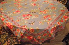 Vintage April Cornel Bird and Flower Square Tablecloth. $43.50, via Etsy.